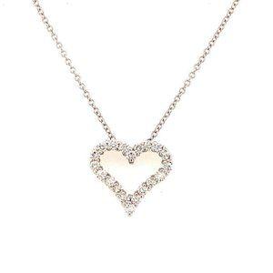 14K EFFY Diamond Heart Necklace